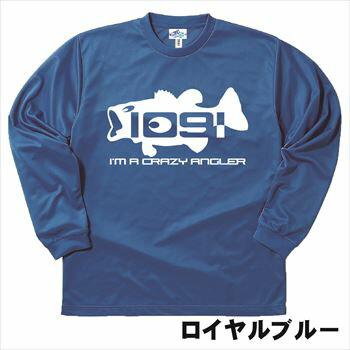 [DRY] ビッグマウス Black bass Crazy Angler 1091.[長袖Tシャツ/ロンT/釣り tシャツ/オリジナルデザイン/日本]