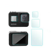 液晶保護フィルムGoProHero8アクションカメラ(スクリーンとレンズ)専用スクリーン保護シートHero8液晶フィルム9H高硬度極薄防塵傷を防止耐衝撃