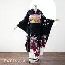 振袖 レンタル フルセット 正絹 着物 結婚式 成人式 身長161-176cm 黒 bk-033
