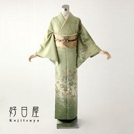 【レンタル】訪問着 フルセット 正絹 適応身長152〜167cm h-101