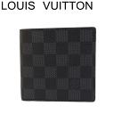 ルイヴィトン ヴィトン 財布 ポルトフォイユマルコ ダミエ グラフィット 二つ折り 財布 N62664【中古】