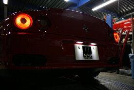 フェラーリ用拡散クリアレンズ一体LEDライセンスランプKIT 【Pearl(パール)】KSP製 フェラーリ550マラネロ