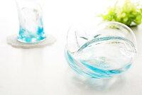 琉球ガラスの海蛍灰皿