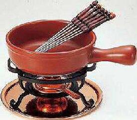 【送料無料!】【新光堂】チーズフォンデュセット20cmひろがるフォンデュの世界洋のコミュニケーション銅具