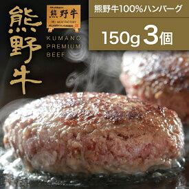 熊野牛100%ハンバーグ150g (3個)