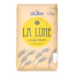La Lune (ラ・リュンヌ) Type55 プレヌ (強力粉) 25kg (大袋)【送料無料】【北海道産 小麦粉 ヤマチュウ】【フランスパン用 国産 強力粉】【ホームベーカリー 食パン レシピ におすすめ パン材料】