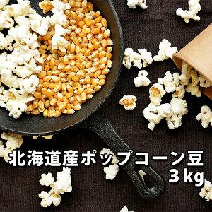 ポップコーン 豆 北海道産 3kg【バタフライ とうもろこし】【ホームシアター パーティー 手作り 味付け】