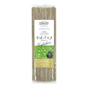 そばパスタ タリオリーニ 200g(3mm 平麺)【北海道産 蕎麦 小麦粉 パスタ 乾麺】【山加製粉】