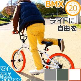 送料無料 BMX 自転車 20インチ Raychell レイチェル BM-20R ジャイロ機構ハンドル スチールフレーム BMX 20インチ スポーツ自転車 ツーリング 自転車の九蔵