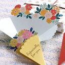 【キュートに上品なメッセージカード】ブーケカード [全3色]【楽ギフ_包装】
