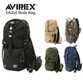 バイク ボディバッグ 鞄 AVIREX EAGLE ボディバッグ AVX305L ショルダーバッグ ワンショルダー アヴィレックス イーグル バイク ミリタリー おすすめ 人気