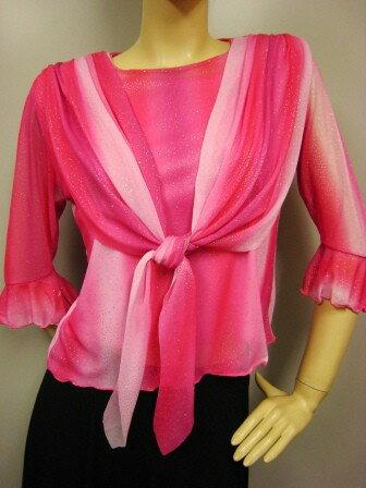 社交ダンス コーラス ダンスストップス レディース ダンスウェア 衣装 Mサイズから Lサイズ ピンク