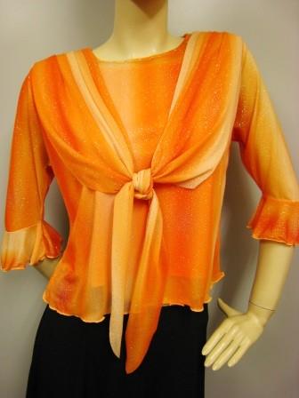 社交ダンス コーラス ダンスストップス レディース ダンスウェア 衣装 Mサイズから Lサイズ オレンジ