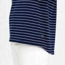 Tシャツ7分袖PeterRabbit(ピーターラビット)ボーダーオフショルプリントTシャツレディースキャラクタープリント裾長めMLLL3L4LオートミールローズネイビーグレーNEW初秋「201833W」