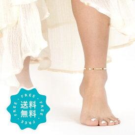 アンクレット レディース つけっぱなし 日本製 シェル ゴールド la siesta