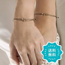【マラソン最大ポイント20倍】ブレスレット ブランド おしゃれ つけっぱなし ペア 日本製 2点セット ゴールド シルバー 15色 結婚記念日 特集1 la siesta