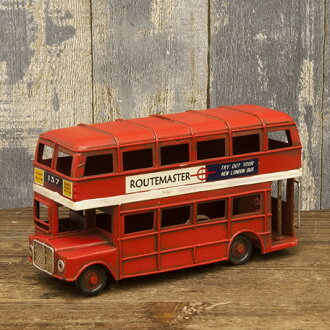 Vintage London bus (LONDON BUS) Veliki car miniature garage collection figure American goods American gadgets vintage