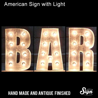 American signature with light BAR: Impact font store drawing card American diner lamp wall hangings lighting neon sign bar cafe bar garage filmset Hollywood Las Vegas United States miscellaneous goods American miscellaneous goods wall hangings interior