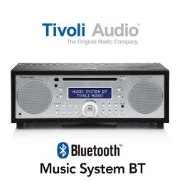 Tivoli Audio蒂沃利音頻Music System BT(黑色/銀子)MSYBT-1775-JP<Bluetooth/藍牙/無線CD/AM/FM/時鐘收音機·立體聲喇叭>英俊室內裝飾,重新擺設..
