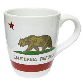アメリカ西海岸 カリフォルニア リパブリック の ビッグ マグカップ/700ml カリフォルニアベア 州旗 大きい マグ 大容量 白 クマ 熊 プレゼント ギフト