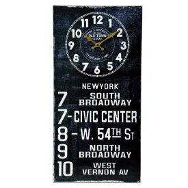 アンティーク クロック バスロールサイン(KS ニューヨーク)レトロ調 ビンテージ クロック 壁掛け時計 時計 アメ雑貨 看板 西海岸風 インテリア アメリカン雑貨