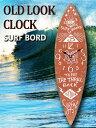 サーフボード ウォールクロック/壁掛け時計「SURF BOARD/ブラウン」アロハ・マウイ/インテリア/ハワイ おしゃれ時計…