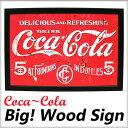 【エントリーで10倍!】【コカコーラ/Coca-Cola 100cm ウッドサイン/木製看板】アンティーク看板 ブランド ドリンク …
