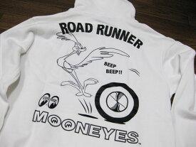 ロード・ランナー&ムーンアイズのコラボレーション プルオーバーパーカー RRS014(ホワイト) 西海岸風 インテリア アメリカン雑貨
