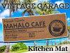 ハワイアンキッチンマットマハロ/カフェ(MAHAROCAFE)ロングマット玄関マットガレージマットマット丸洗い滑り止めアメリカン雑貨ハワイアン雑貨ハワイ