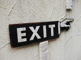 Garage Gadgets lavieen | rakuten global market: american tin sign exit (exit