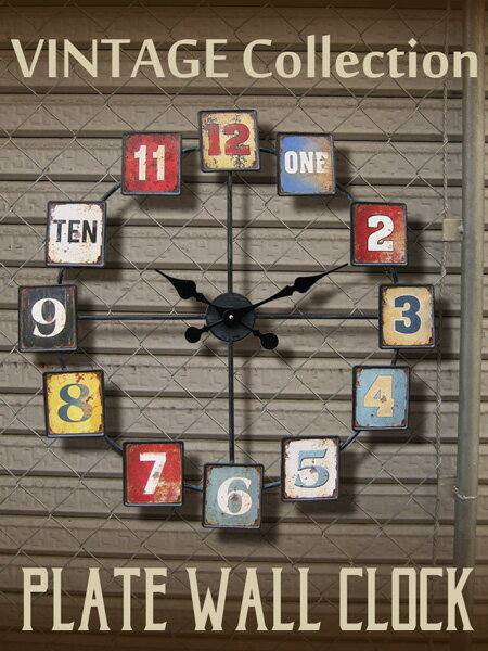 large wall clock square plate ht1j138 watch vintage design wall clock watch american goods american gadgets garage