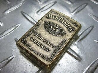 ZIPPO 芝宝打火机 Zippo 打火机杰克 Daniel 老号 7 标签压花和金色杰克丹尼尔斯美国货物美国货物 Zippo