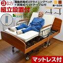【送料無料】介護ベッド 電動ベッド 電動3モーターベッド ケア3 サイドテーブル付き LIA 介護用ベッド 電動リクライニ…