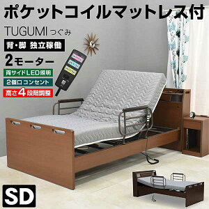 【電動ベッドフェア】介護ベッド 電動ベッド つぐみ(セミダブルサイズ) 【介護向け】2モーターベッド 電動リクライニングベッド リクライニング 介護ベット 電動ベット 車椅子| シングル