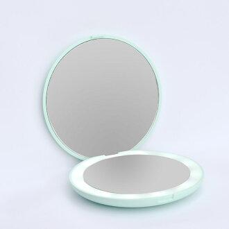 有化妆镜子LED灯小型镜子放大镜的小型的镜子化妆镜子镜子口袋镜子带把的小镜子手镜手机镜子小型