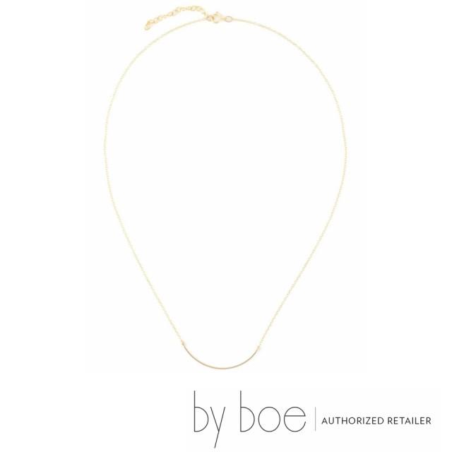 【byboe バイボー】スモールカーブ  ネックレス by boe インポート ゴールド レディース