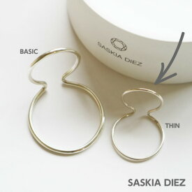【予約販売】10月上旬頃入荷!【SASKIA DIEZ サスキア ディツ】DOUBLE EAR CUFF 細めラインの方 イヤーカフ シルバー