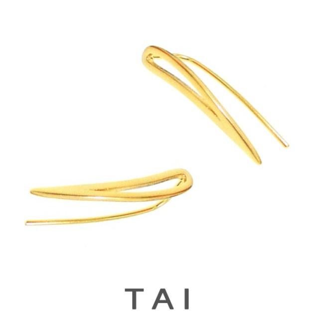 【TAI JEWELRY[タイジュエリー] 】SIMPLE OPEN CRAWLER ピアス ゴールド
