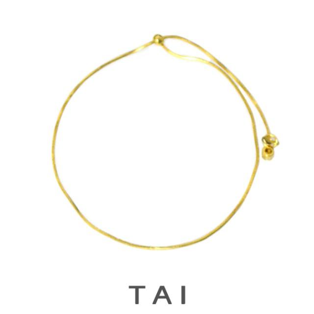 【TAIJEWELRY[タイジュエリー] 】ゴールド スネークチェーン シンプル ブレスレット