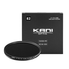 【SALE】KANI 可変NDフィルター バリアブルND64-1000 82mm (減光効果 5-10絞り分) / レンズフィルター 丸枠