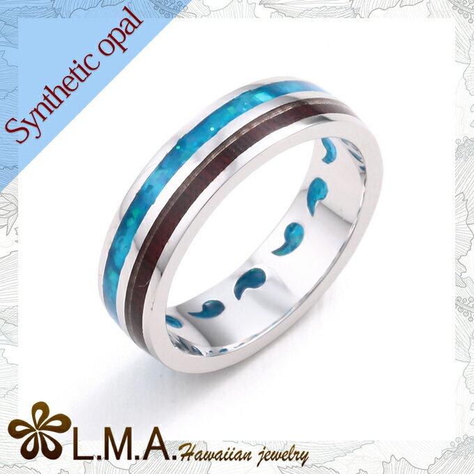 シンセティックオパール ハワイアンジュエリー リング レディース メンズ シルバー925 silver925 レッドウッド コンビリング GR200指輪 シンプル 人気 ギフトHawaiian jewelry クリスマス