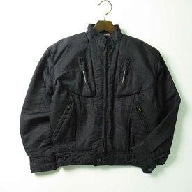 80's issey miyake MEN 80年代 イッセイミヤケメン ヴィンテージ ポンプジャケット ボンバージャケット ブラック メンズ M 【中古】