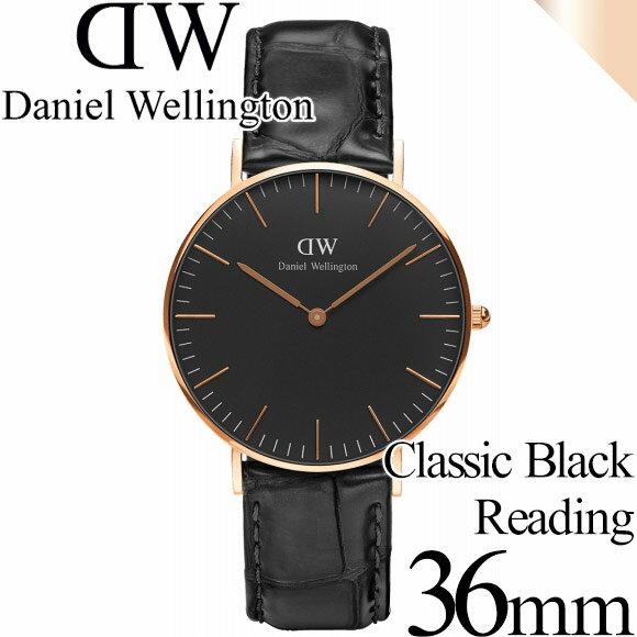 ダニエルウェリントン 腕時計 クラシックブラック 36mm リーディング ローズゴールド メンズ/レディース Daniel Wellington CLASSIC BLACK 36mm Reading ダニエル ウェリントン DW00100141 安心の正規品・2年保証 代引手数料無料 送料無料 あす楽 即納可能