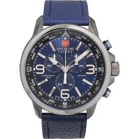 スイスミリタリー 腕時計 アロー メンズ ブルー/ブラック/シルバー/ブルーレザー SWISS MILITARY ARROW ML399 安心の正規品 代引手数料無料 送料無料 あす楽 即納可能