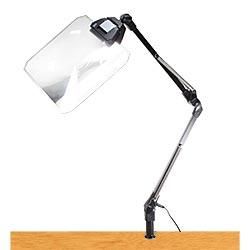 LEDライト付きアームルーペLh7 F角型(1.8倍角型フレネルレンズつき)【smtb-f】