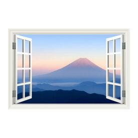 ウォールステッカー 窓枠 富士山(Sサイズ) WAKU 風景 景色 北欧 旅行 写真 シール お風呂 浴室 絵画 壁紙 ポスター おしゃれ リフォーム DIY トイレ インスタ 映え
