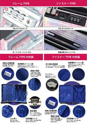 【送料無料】桜柄スーツケースキャリーバッグキャリーケース旅行カバン軽量SMLサイズハードケースファスナーフレームタイプsakura