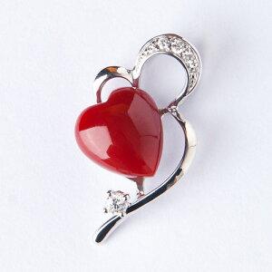 「血赤珊瑚K18WGオープンハートダイヤペンダントトップ」【赤珊瑚 ネックレス】【さんご ペンダント】【母の日】