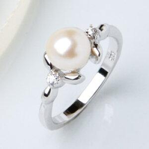 「淡水真珠一粒リング」
