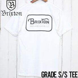 【送料無料】 BRIXTON ブリクストン GRADE S/S STANDARD TEE 半袖Tシャツ 06251 WHTCH